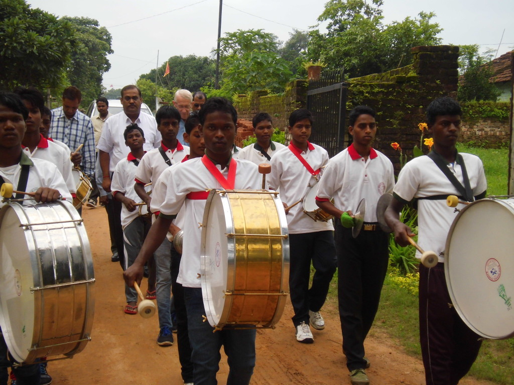 The music Band welcomes the Chief Guest