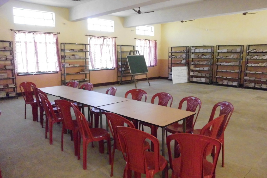Furniture and books provided