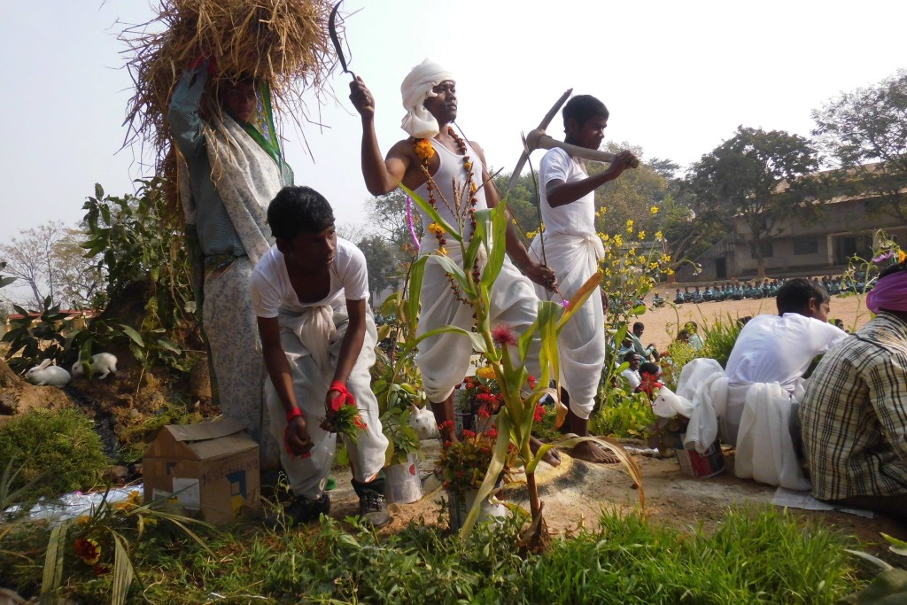 Another view of the Tableau. depicting the Jharkhand Sate.