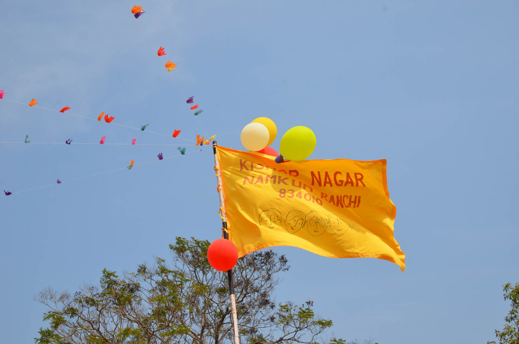 The Kishor Nagar Flag is flying high